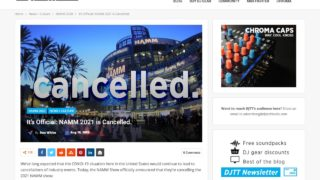 It's Official: NAMM 2021 is Cancelled. - DJ TechTools