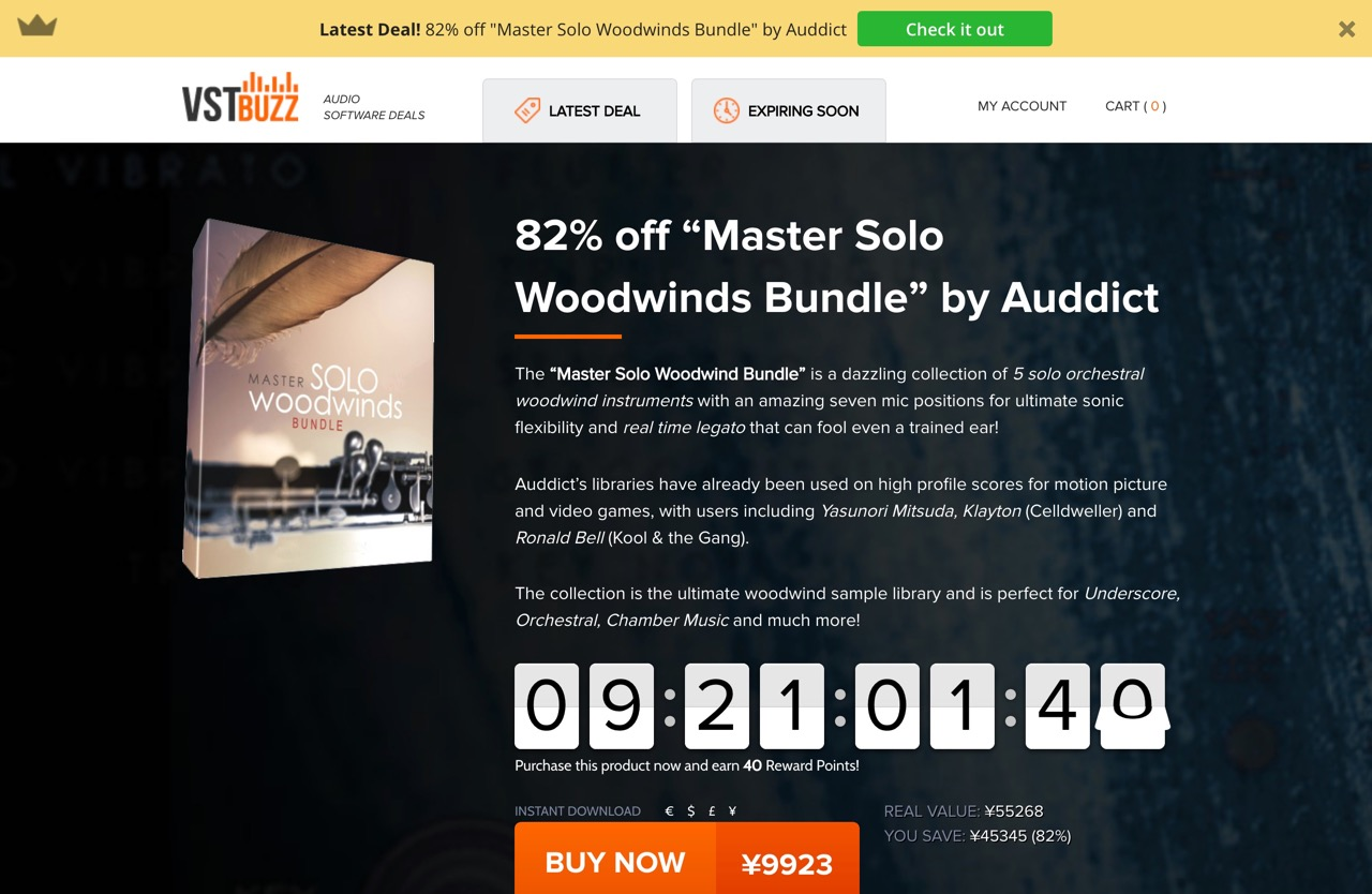 """82% off """"Master Solo Woodwinds Bundle"""" by Auddict"""