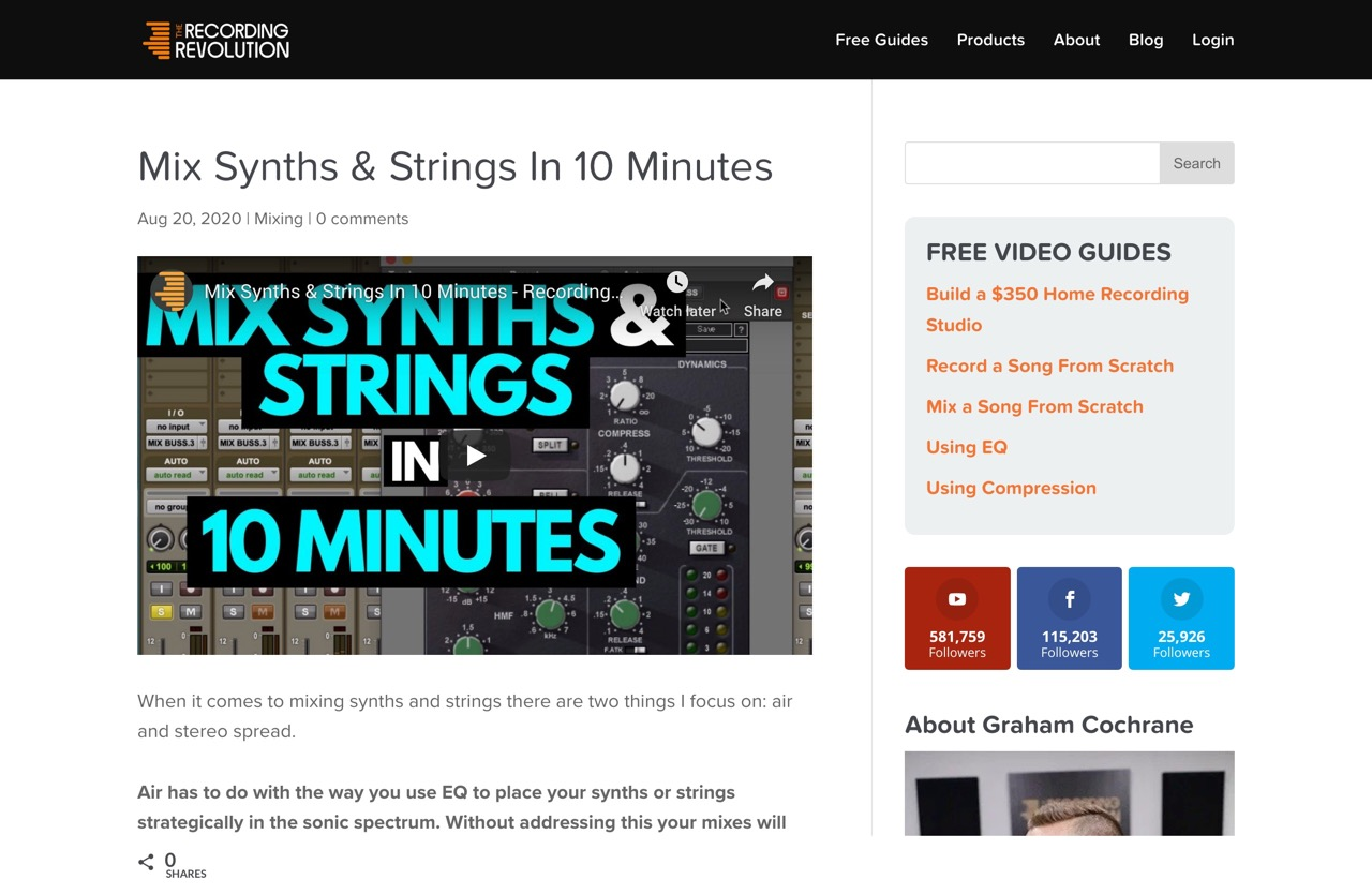 Mix Synths & Strings In 10 Minutes - Recording Revolution
