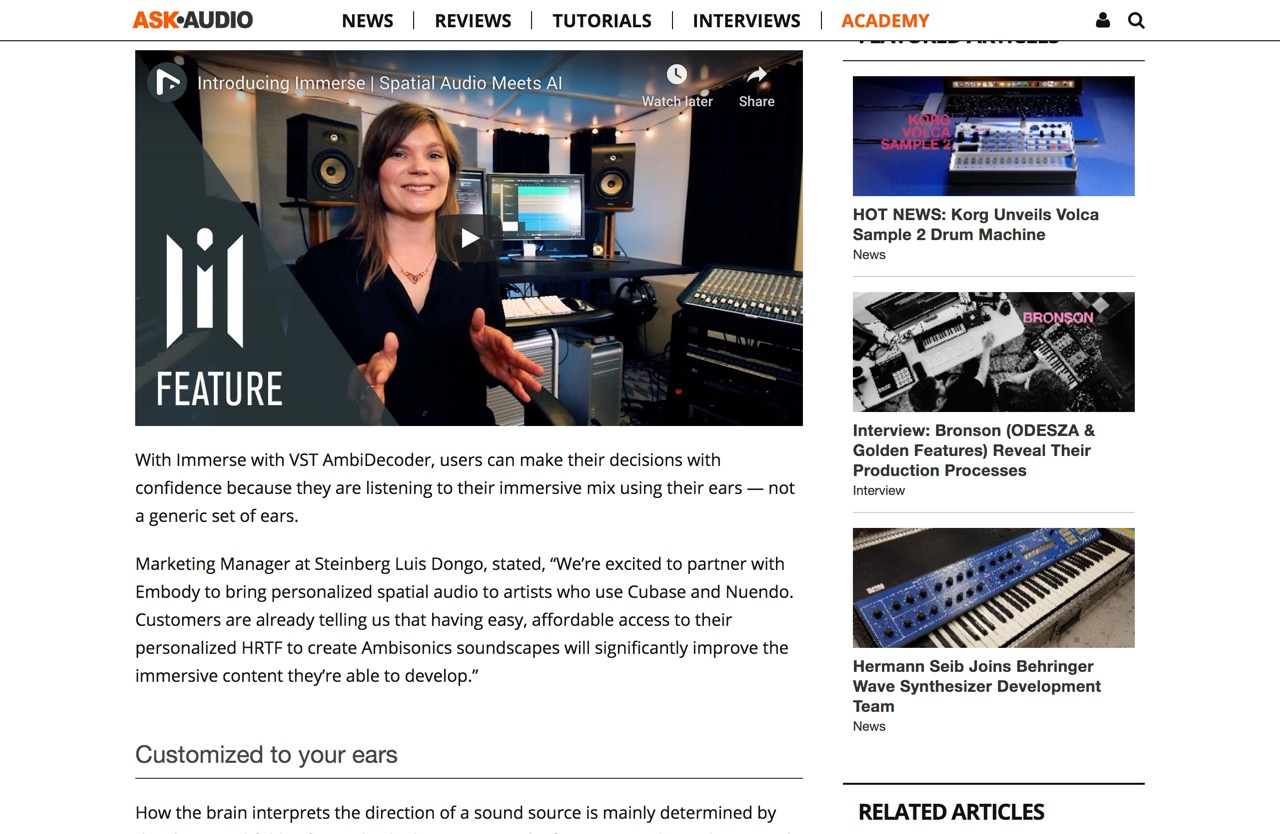 World's 1st AI-Driven Spatial Audio Solution for Ambisonics Mixing : Ask.Audio
