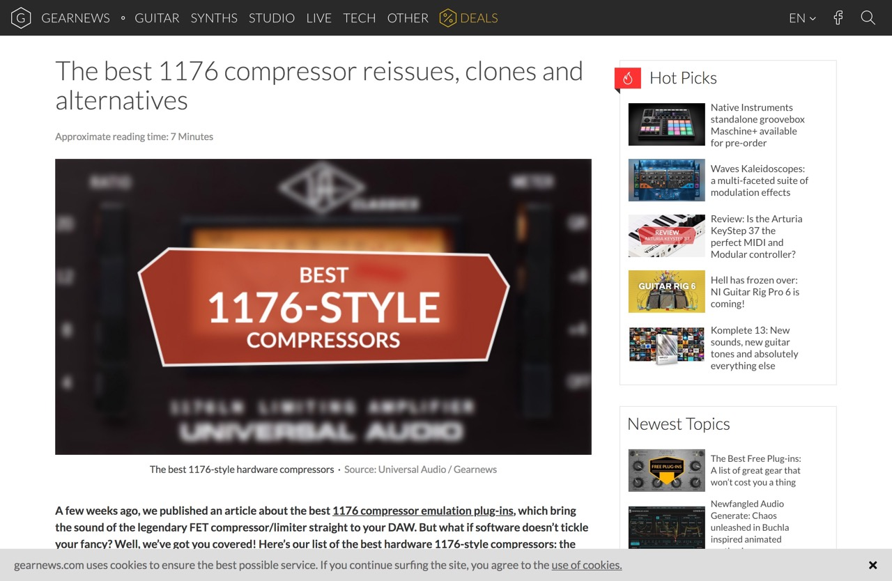 The best 1176 compressor reissues, clones and alternatives - gearnews.com