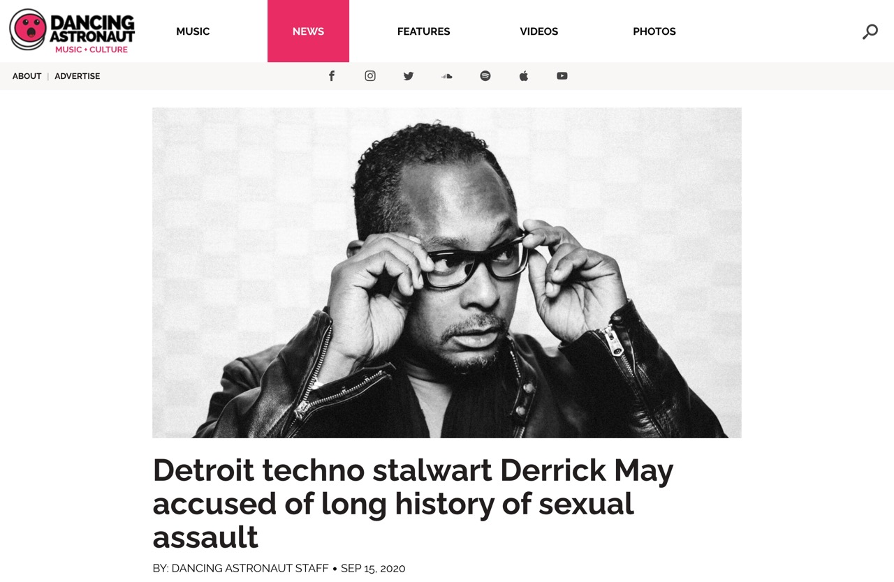 Detroit techno stalwart Derrick May accused of long history of sexual assault : Dancing Astronaut