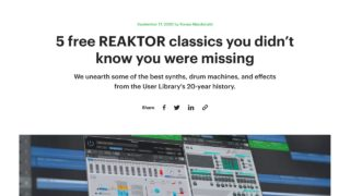 5 free REAKTOR classics you didn't know you were missing