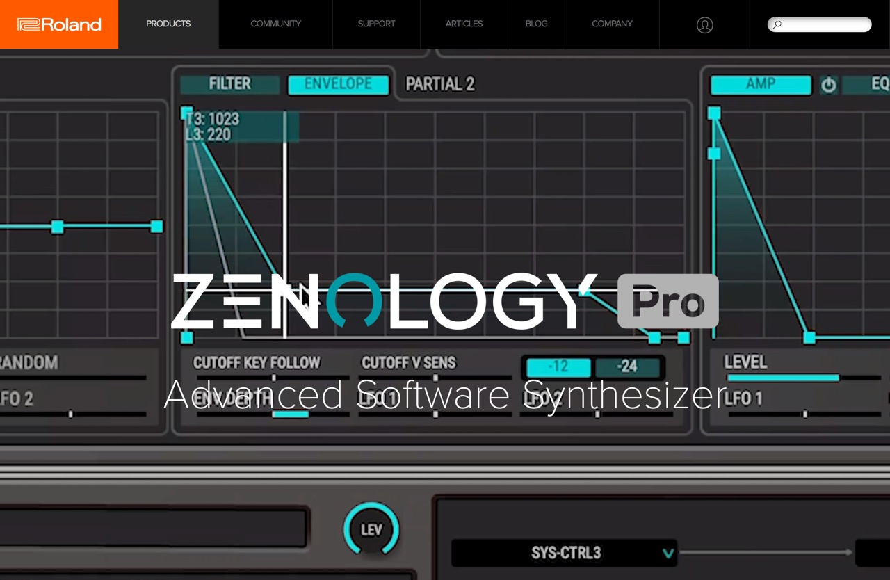 Roland - ZENOLOGY Pro | Advanced Software Synthesizer