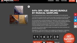 64% OFF: Vibe Drums Bundle by MusicalSampling - Audio Plugin Deals