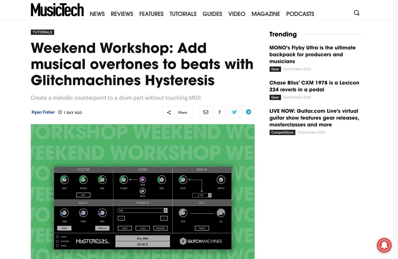 Weekend Workshop: Add musical overtones to beats with Glitchmachines Hysteresis   MusicTech