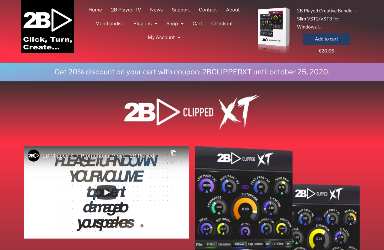 2B Played Music | Creators of Audio Plug-ins and music related products