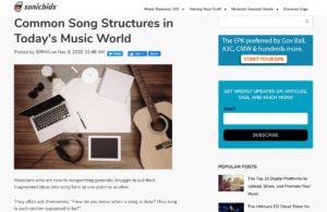 Common Song Structures in Today's Music World