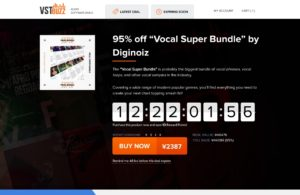 "95% off ""Vocal Super Bundle"" by Diginoiz"