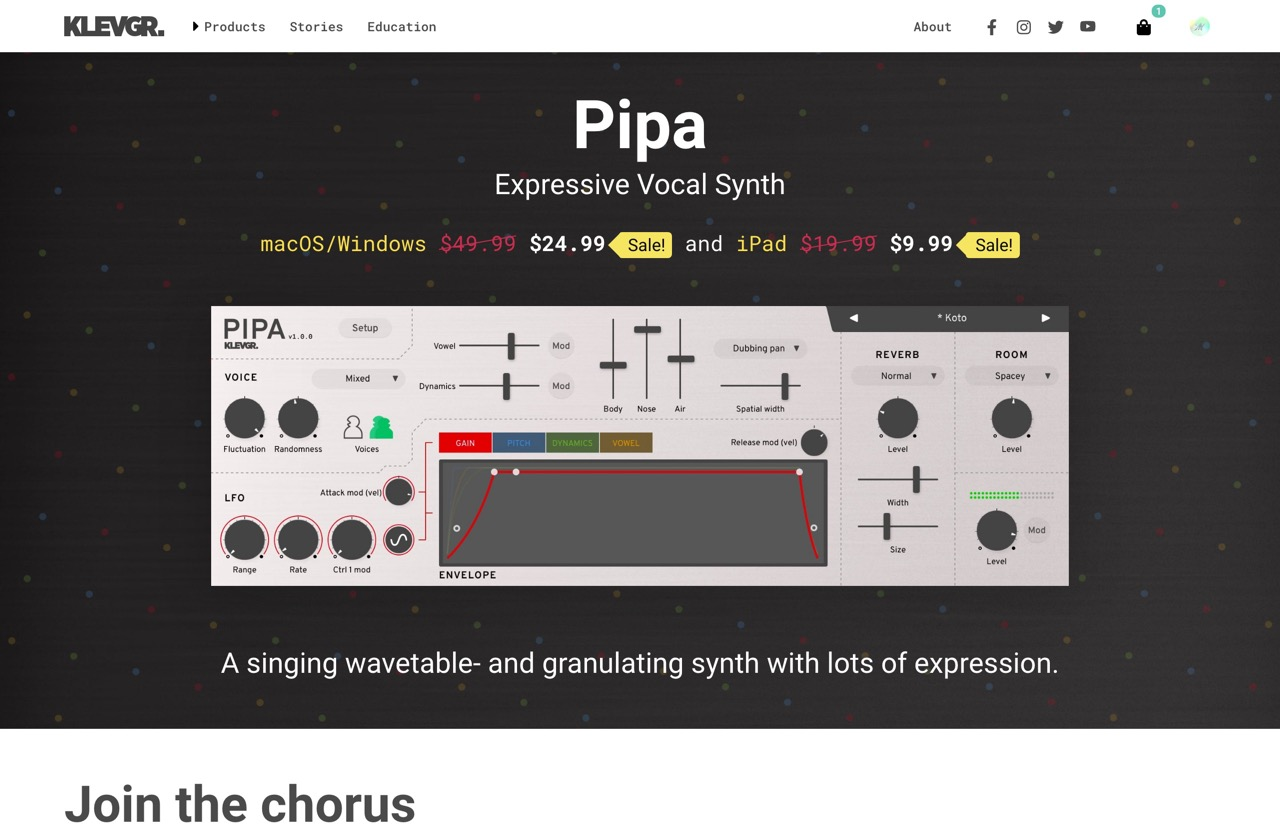 Pipa - Expressive Vocal Synth