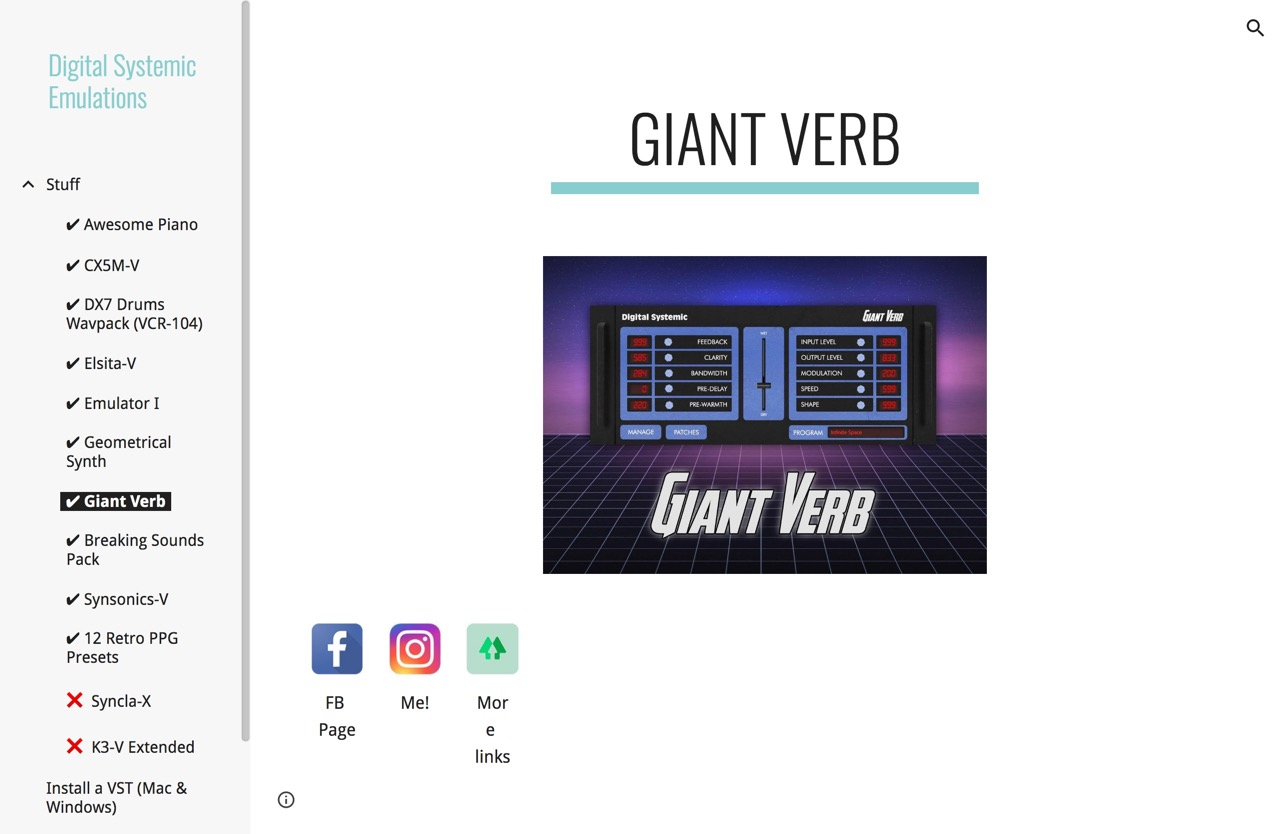 Digital Systemic Emulations - ✔ Giant Verb