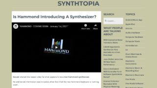 Is Hammond Introducing A Synthesizer? – Synthtopia
