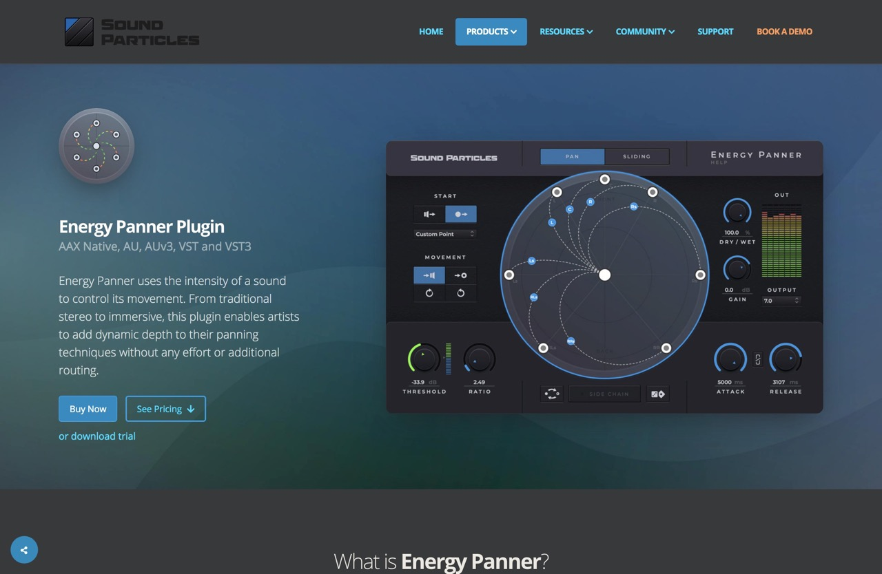 Energy Panner - Sound Particles