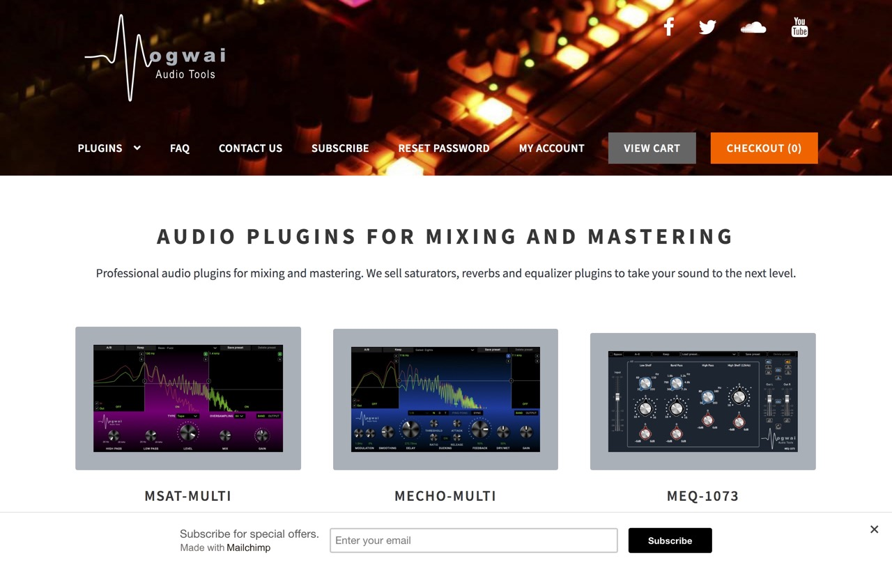 Audio Plugins for Mixing and Mastering | Mogwai Audio Tools
