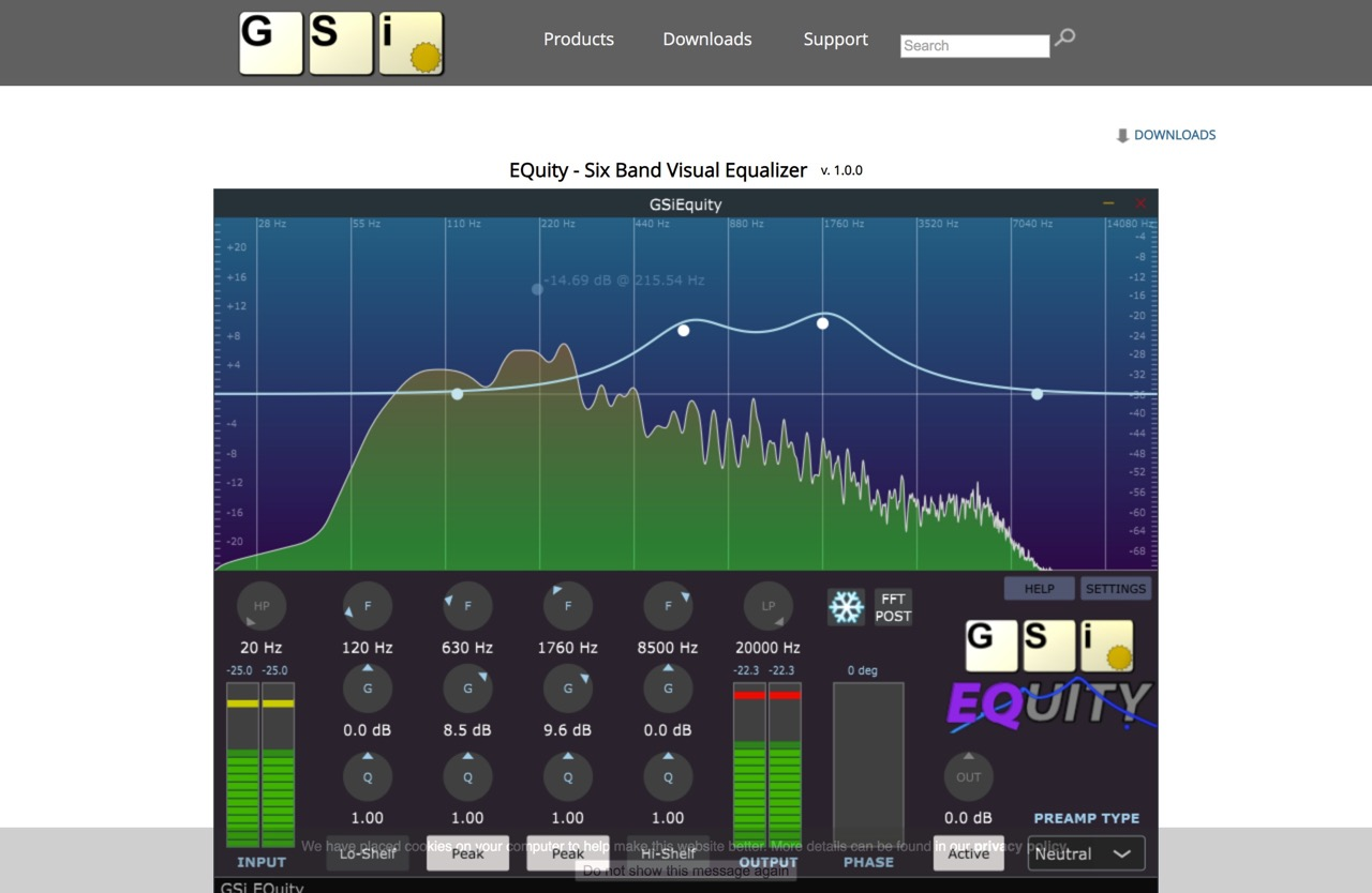 GSi - EQuity - Six Band Visual Equalizer