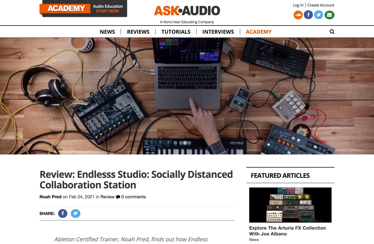 Review: Endlesss Studio: Socially Distanced Collaboration Station : Ask.Audio