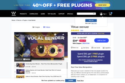 Vocal Bender – Real-Time Vocal Manipulation Plugin | Waves