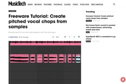 Freeware Tutorial: Create pitched vocal chops from samples | MusicTech