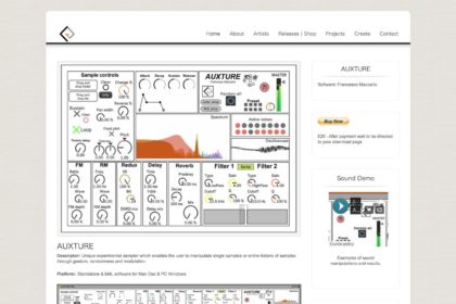 AUXTURE: exploratory sample software
