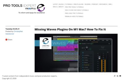 Missing Waves Plugins On M1 Mac? How To Fix It | Logic Pro