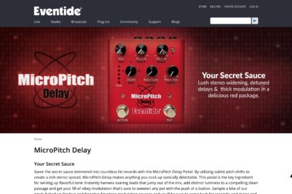 MicroPitch Delay | Eventide Secret Sauce Effects Pedal