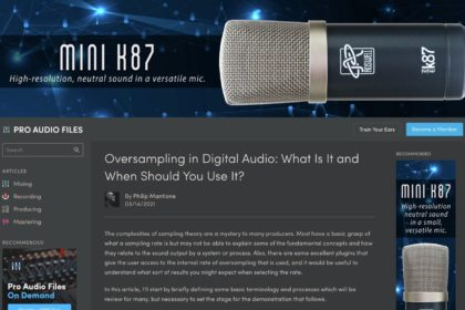 Oversampling in Digital Audio: What Is It and When Should You Use It? — Pro Audio Files