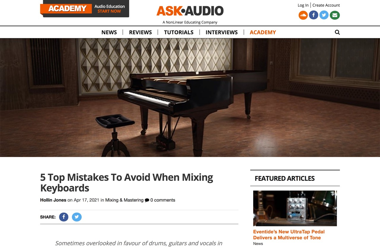 5 Top Mistakes To Avoid When Mixing Keyboards : Ask.Audio