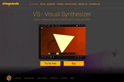 Visual Synthesizer for Desktop and Mobile - VS | Imaginando