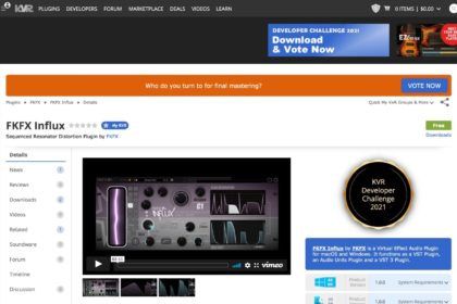 FKFX Influx by FKFX - Sequenced Resonator Distortion Plugin VST VST3 Audio Unit
