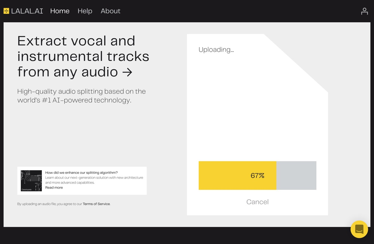 LALAL.AI: 100% AI-Powered Vocal and Instrumental Tracks Removal