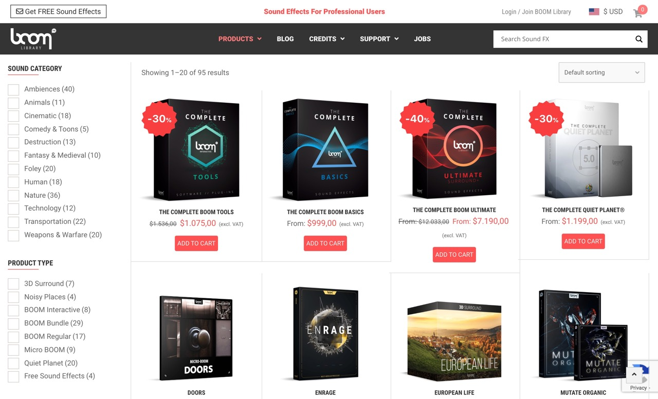 BOOM Library - Professional Sound Effects   Online Shop