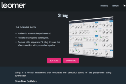 Loomer | String - Vintage ensemble solina synth plug-in